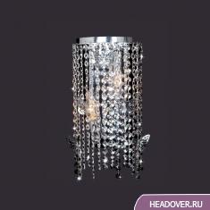 Бра каскад Евросвет 10015/2 хром/прозрачный