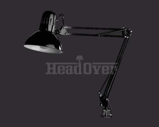Настольная лампа на струбцине Arte Lamp A6068LT-1BK Senior