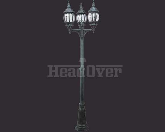 Уличный наземный светильник Arte Lamp A1047PA-3BG Atlanta