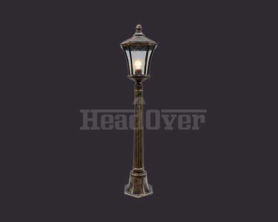 Уличный фонарь Electrostandard Virgo F (арт. GLXT-1450F) черное золото