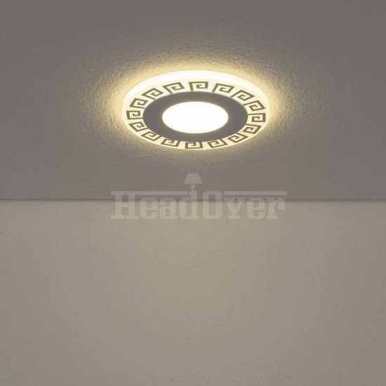 Встраиваемый потолочный светодиодный светильник Elektrostandard DSS002 6W 4200K