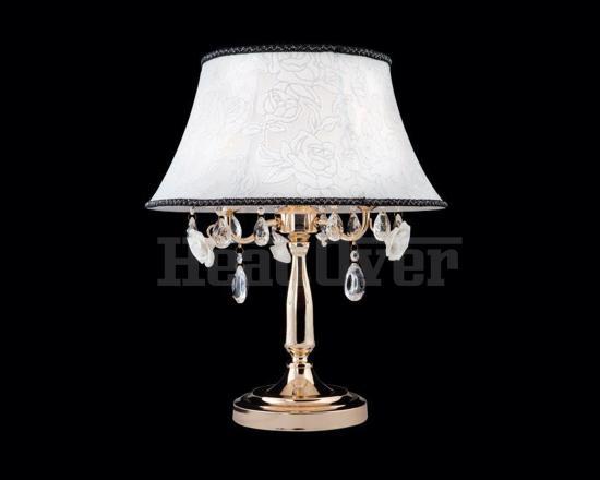 Настольная лампа 3145/3T золото с прозрачным хрусталём