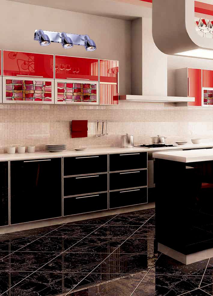 Спот Евросвет 23171/3 в интерьере кухни