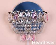 Бра Гусь-Хрустальный Катерина 1 лампа камень цветной 1031-ц