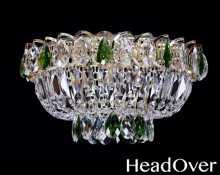 Люстра Гусь-Хрустальный Катерина 1 лампа с зеркалом камень цветной 224321-ц