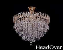 Люстра Гусь-Хрустальный Капель 5 ламп лепесток конус 30 или шар 30 360455
