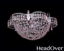 Люстра Гусь-Хрустальный Ромашка 1 лампа с зеркалом Сетка 425401
