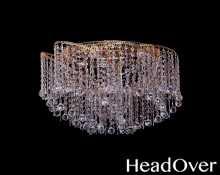 Люстра Гусь-Хрустальный Космос 6 ламп конус 30 (шар 30) 435706-1