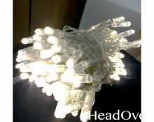 Гирлянда НИТЬ 10м., 100 LED, теплый белый, с мерцанием, прозрачный ПВХ провод, с защитным колпачком. 05-1951