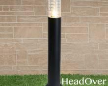 Светильник на столбе 1507 TECHNO black черный