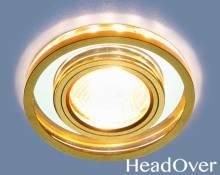 Точечный светодиодный светильник Elektrostandard 7021 MR16 SL/GD зеркальный/золото