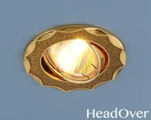 Точечный светильник Electrostandard 612A золото блеск/золото