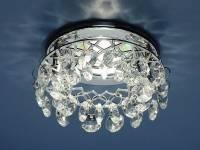 Точечный светильник с хрусталем 7070 Electrostandard хр/бел