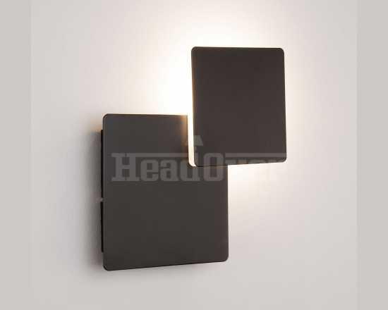 Светодиодный настенный светильник Евросвет 40136/1 черный Screw