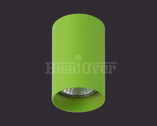 Точечный светильник зелёный Lightstar 214434 Rullo