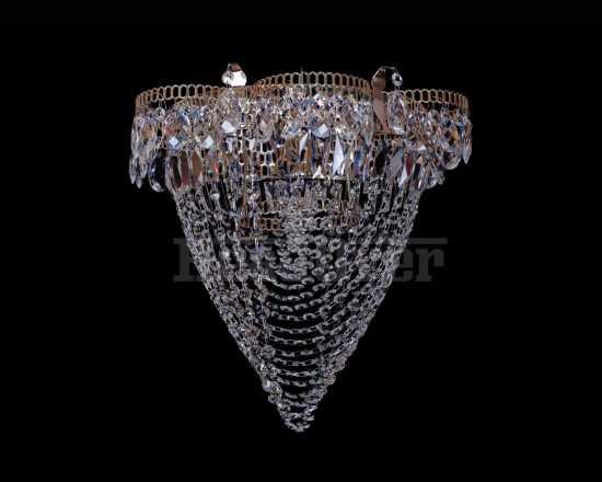 Люстра Гусь-Хрустальный Ромашка 1 лампа с зеркалом Водоворот 249401