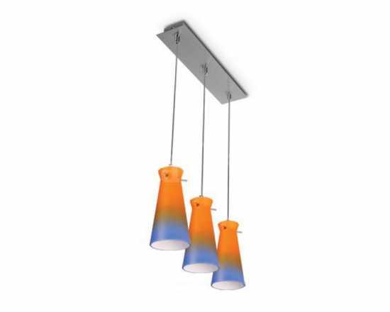 Подвесной светильник EQUA 13, s.хром/оранжевый-голубой арт. LW-EQ1372-45