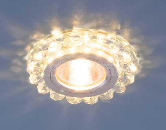 Точечный светодиодный светильник с хрусталем 6036 MR16 СL Elektrostandard