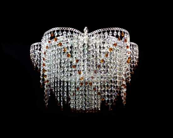 Люстра Гусь-Хрустальный Ромашка 5 ламп с зеркалом №2 658565