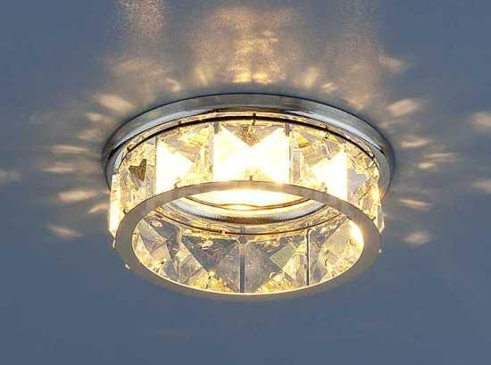 Точечный светильник с хрусталем 7275 Electrostandard хр/пр