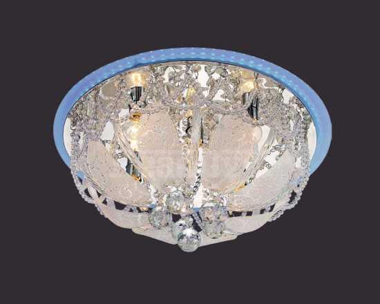 Потолочный светильник Eurosvet 80100/8 хром/голубой Диско