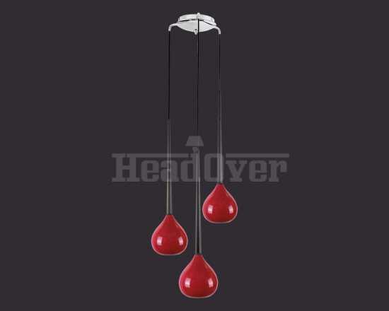 Каскад с красными плафонами Lightstar 808232 Forma