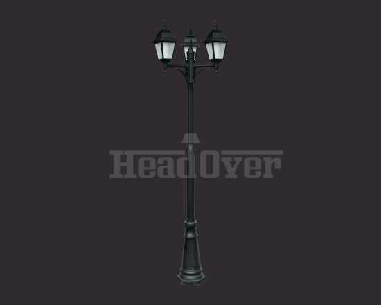 Уличный наземный светильник Arte Lamp A1017PA-3BK Bremen