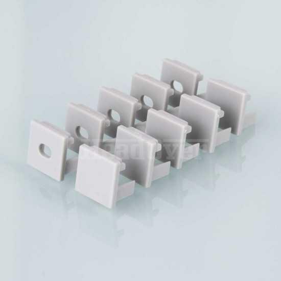 Комплект заглушек для квадратного углового алюминиевого профиля для светодиодной ленты (10 пар) Elektrostandard ZLL-2-ALP003