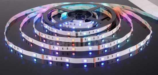 Светодиодная лента Elektrostandard 5050/30 LED 7.2W IP20 [белая подложка] мультиколор