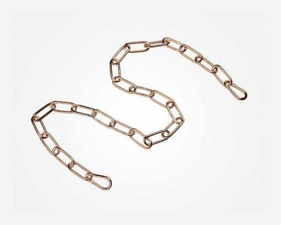 Цепь 1 м Eurosvet 10301 цепь длиной 1 метр с  2 карабинами золото