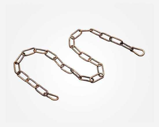 Цепь 1 м Eurosvet 10303 цепь длиной 1 метр с  2 карабинами античная бронза, арт. 74400