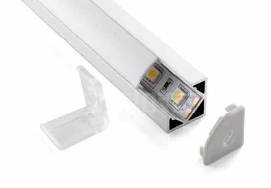 Угловой алюминиевый профиль для светодиодной  ленты Elektrostandard LL-2-ALP004
