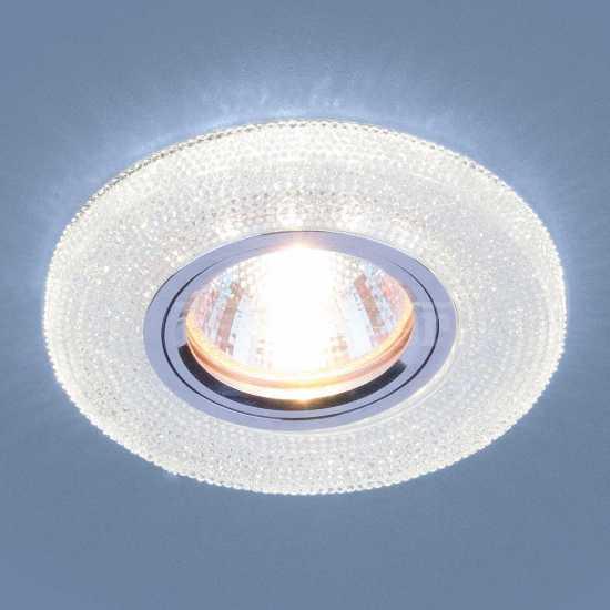 Встраиваемый потолочный светильник со светодиодной подсветкой Elektrostandard 2130 MR16 CL прозрачный