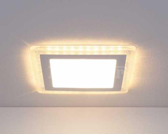 Встраиваемый потолочный светодиодный светильник Elektrostandard DLS024 10W 4200K