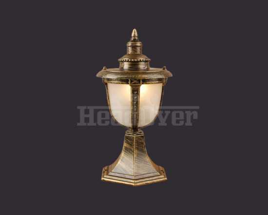 Уличный светильник Electrostandard Atlas S (GLYF-2010S) черное золото